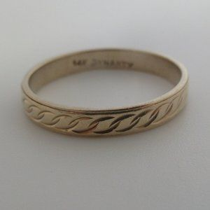 14k yellow solid gold band ring wedding